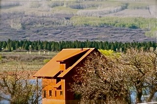 TSLR Cabin Nat'l Forest in Background