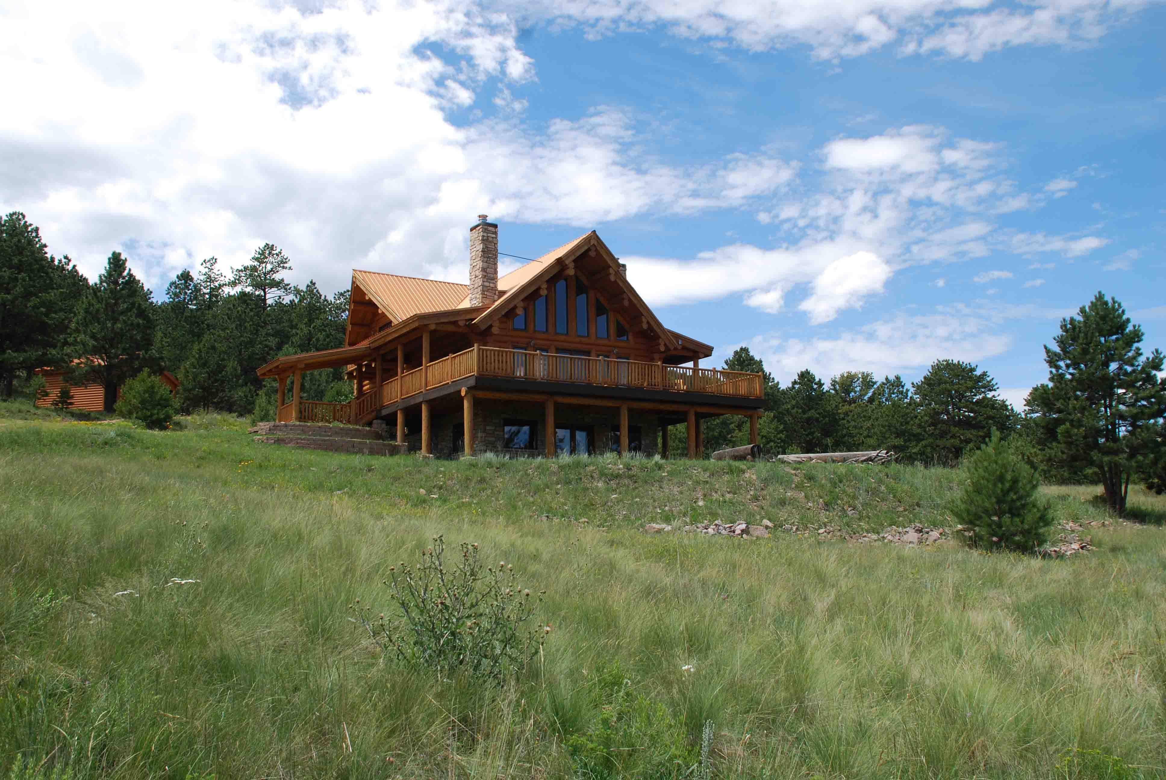 Whispering Aspen Ranch 33 Spruce Lane Log Home on 39 Acres